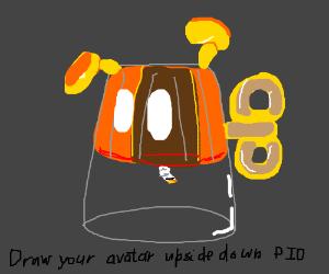 Draw your avatar upside down pio