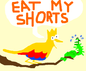 "Bird Bart ""Eat my shorts"""