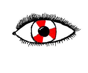 Peppermint iris(white part of the eye)