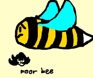 a really sad bee