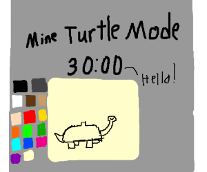"""Reed adds Mine Turtle mode (""""Hello!"""")"""