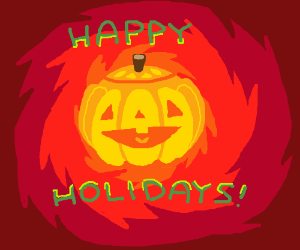 """Happy Holidays"" Jack-o-lantern"