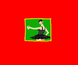 Tiny picture of a drinking dancer