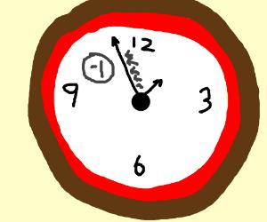 negative 1 minute