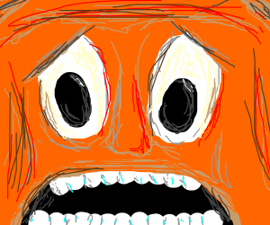 Screaming Orange Man
