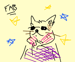 the cat is FaBuLoUs
