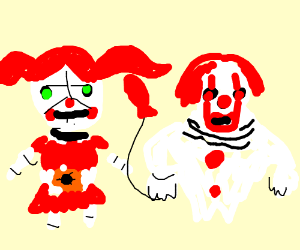 Circus Baby and Pennywise