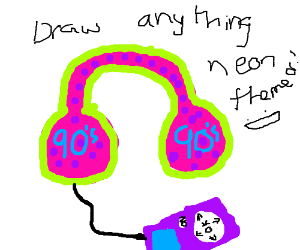 Draw anything neon themed! :D
