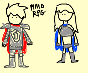 MMORPG logic: male armor vs female armor