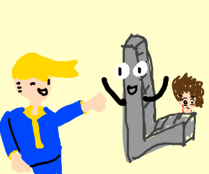 Fallout boy greeting the letter L