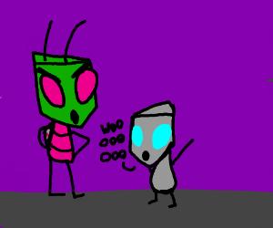 zim and robot gir