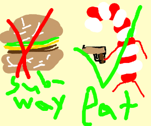Dont eat Subway, eat raiding canes