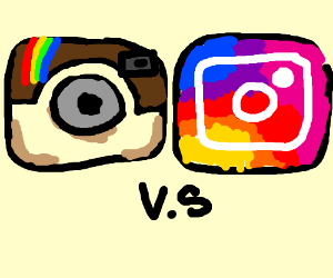 Old Instagram VS New Instagram - Drawception