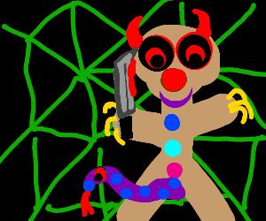 Evil Gingerbread Man enters the Matrix