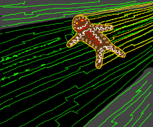 evil gingerbread man in the matrix