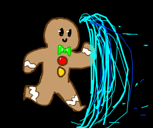 Gingerbread Man travels through cyberspace