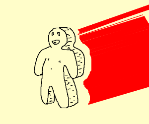 3d Man with a 2d Body
