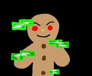 glitched gingerbread