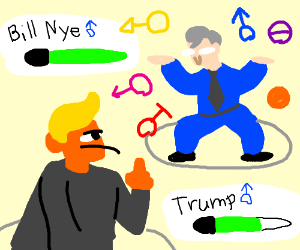 Donald trump Fighting bill the science guy