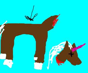 Brown headless unicorn.