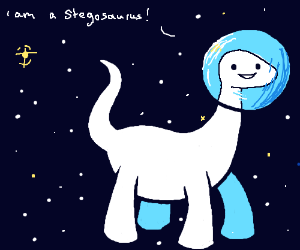 Dino Astronaut in Space