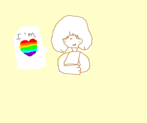 I'm gay (not me the draw I describe xD)