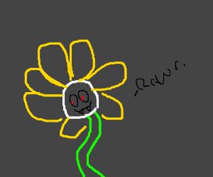 flower saying rawr xD