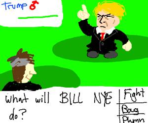 Bill Nye fight Trump Pokémon style