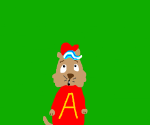 Alvin the chipmunk but with toothpaste hair
