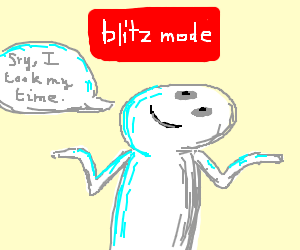 If blitz drawings had more time to be drawn