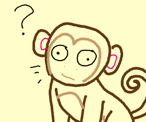 Derpy monkey