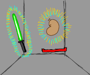 lightsaber or sausage? choose your weapon