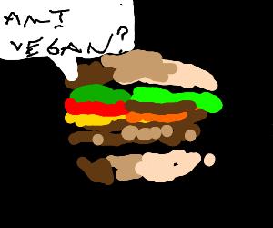 Existential crisis cheeseburger