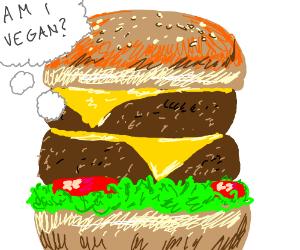 Burger asks if he is vegan