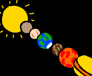 "our own solar system, aka the ""snarfleburger"""