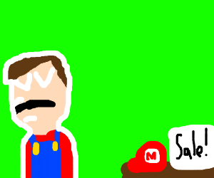 Mario went homeless so he is selling his hate