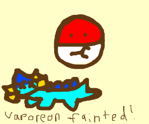 Voltorb knocked out Vaporeon in a battle