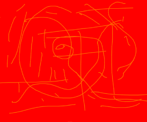 Abstract art with only red