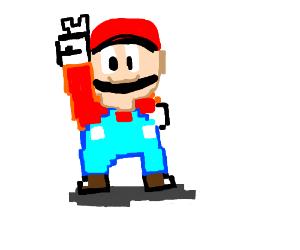 pixel mario (classic Mario)