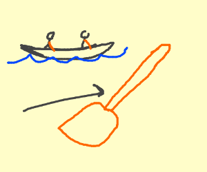 mini paddle for a kyayk
