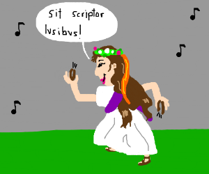 A latin girl dancing