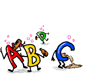 drunk alphabet