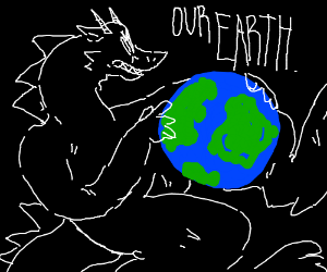 Dragons want to steal earth