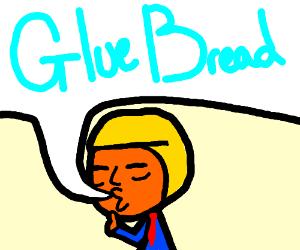donald trump yells GLUE BREAD