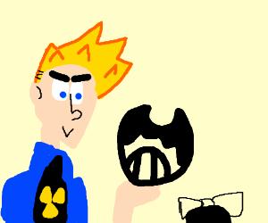 Johnny Test holding Bendy Head