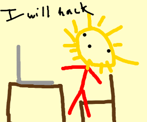 Budget Lisa Simpson attempts to hack a computer