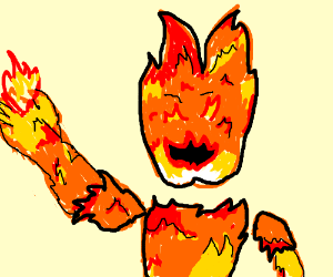 Man is made out of fire
