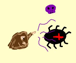 Hobo wizard curses the Black Widow