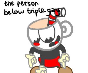 Person below triple gay
