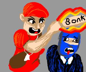 Red Scout BONKs Blu Spy.
